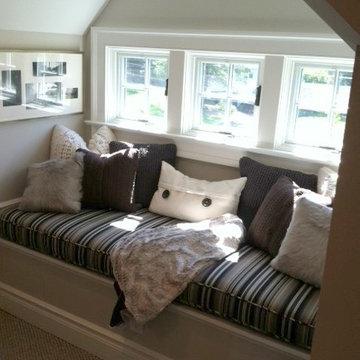 Custom Window Seat Cushion & Pillows