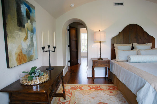 Mediterranean Bedroom by Margaret Donaldson Interiors