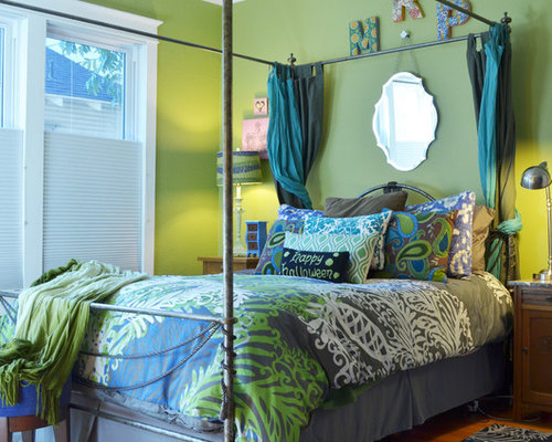 Olive green walls home design ideas pictures remodel and for Olive green bedroom designs