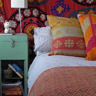 Idéer för att renovera ett eklektiskt sovrum