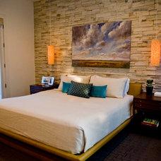 Modern Bedroom by Katherine Robertson Photography