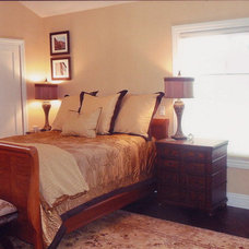Transitional Bedroom by Cara Newcomb Designs