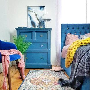 Photo of an eclectic bedroom in West Midlands.