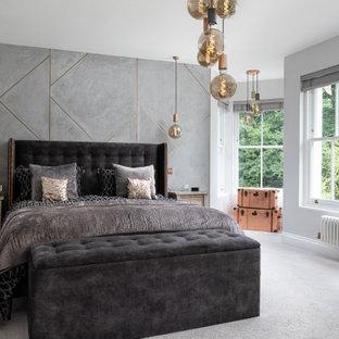 Contemporary bedroom in Surrey.