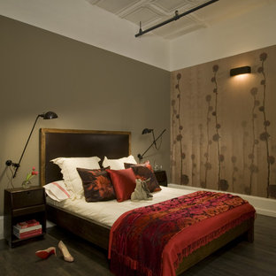 Wood And Leather Bed Houzz