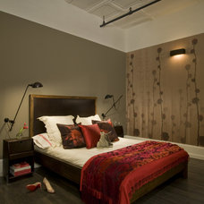 Industrial Bedroom by David Howell Design