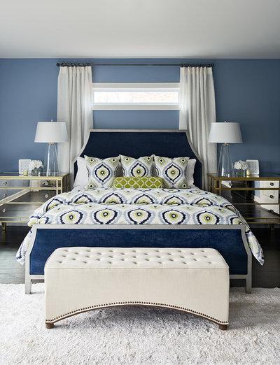 トランジショナル 寝室 by Artistic Interior Design/Amy N. Lee, ASID
