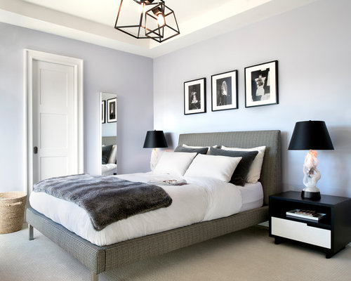 Inspiration For A Transitional Bedroom Remodel In Los Angeles With Purple  Walls Part 11