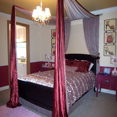 Eclectic Bedroom by Drape Couture LLC