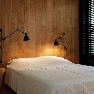 Foto de habitación de invitados rústica pequeña