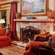 Mediterranean Bedroom by Debra Campbell Design