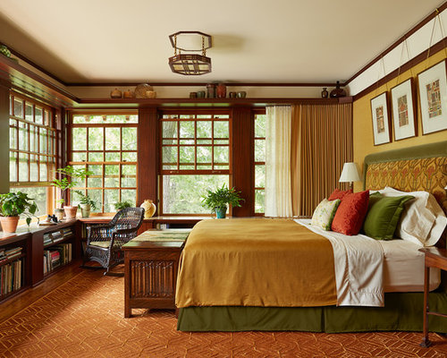 Craftsman Bedroom Design Ideas Remodels Photos With Yellow