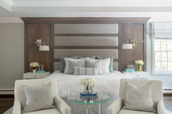 Transitional Bedroom by Jeanne Campana Design