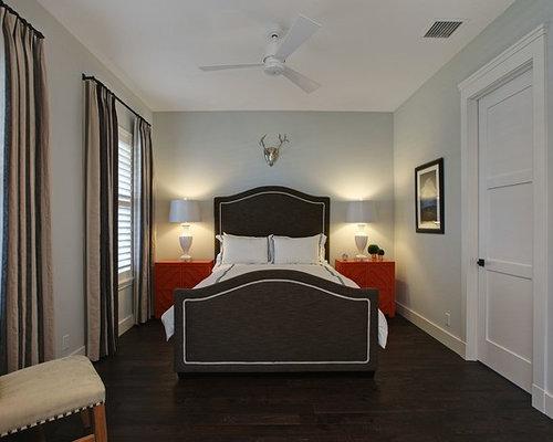 dark wood floor bedroom. Example of a mid sized transitional guest dark wood floor and brown  bedroom design Dark Floor Bedroom Ideas And Photos Houzz