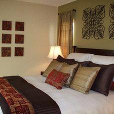 Asian Bedroom by Kelly Smiar Interior Design