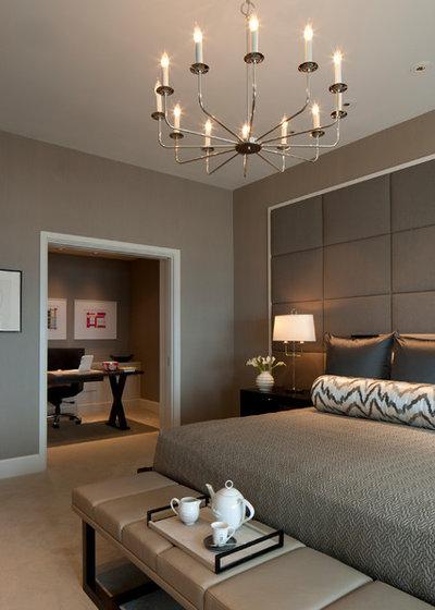 コンテンポラリー 寝室 by Michael Abrams Interiors