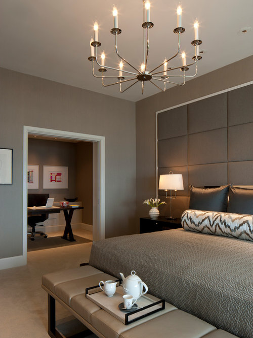 Contemporary bedroom design ideas remodels photos houzz for Bed room interior wall design