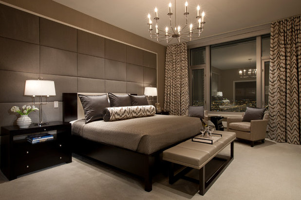 Contemporary Bedroom by Michael Abrams Interiors