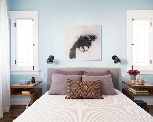 inspiration for a transitional guest bedroom remodel in los angeles