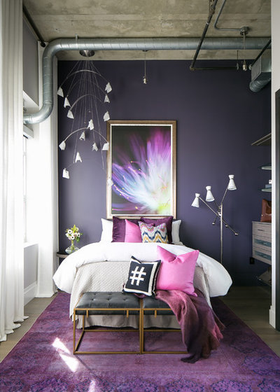 Industrial Bedroom by Robeson Design