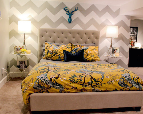 chevron bedroom ideas, pictures, remodel and decor