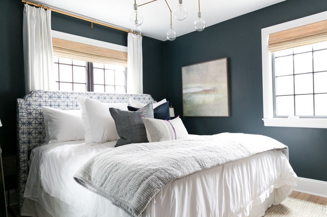 Transitional Bedroom by Studio McGee