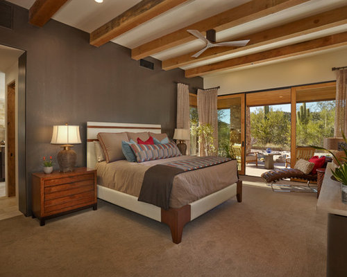 southwestern master bedroom design ideas remodels photos houzz