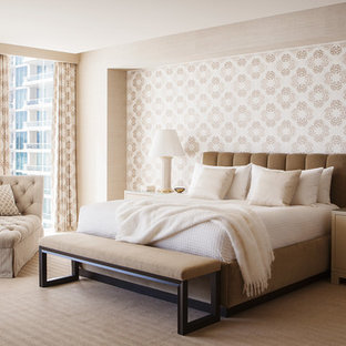 Design Ideas For A Large Transitional Master Bedroom In San Francisco With  No Fireplace, Carpet