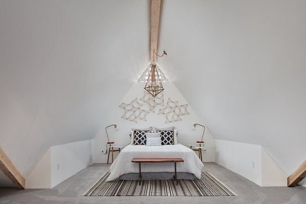 Eclectic Bedroom by Mondragon Design + Build