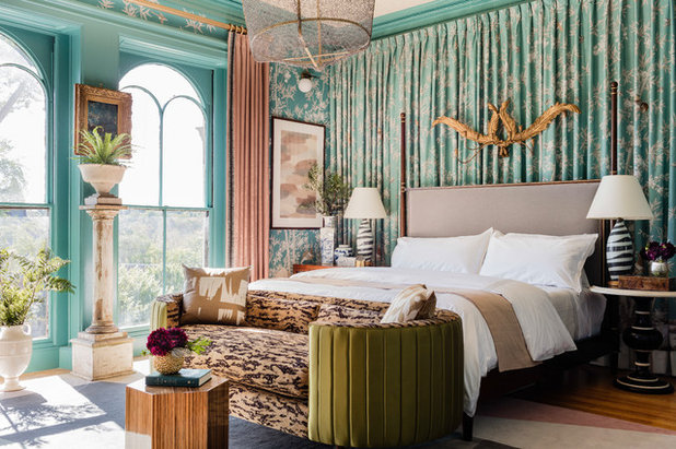 Eclectic Bedroom by Robin Gannon Interiors, LLC