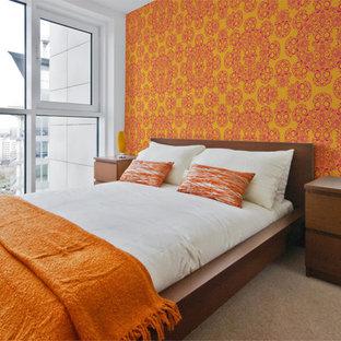 デトロイトのモダンスタイルのおしゃれな寝室のレイアウト