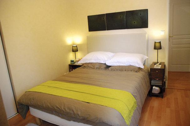 Modern Bedroom DIY upholstered headboard