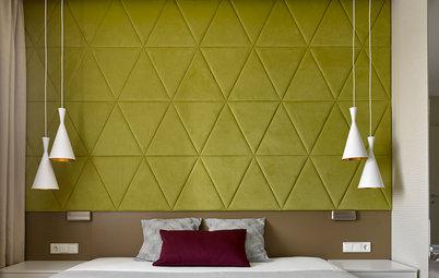 Houzz тур: Квартира со скандинавским дизайном и треугольными узорами