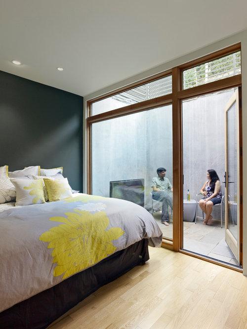 Modern Bedroom Idea In San Francisco With Gray Walls
