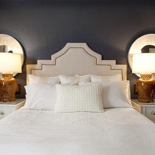 Idee per una camera da letto design con pareti nere