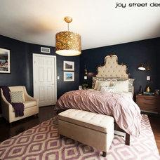 Transitional Bedroom by Joy Street Design