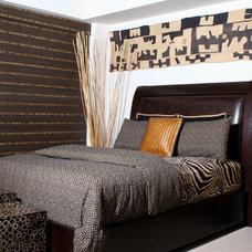 Eclectic Bedroom by Judi Summers Design