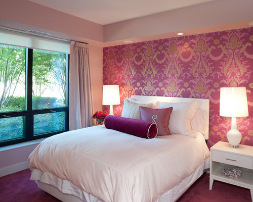 wallpaper accent wall home design ideas pictures remodel