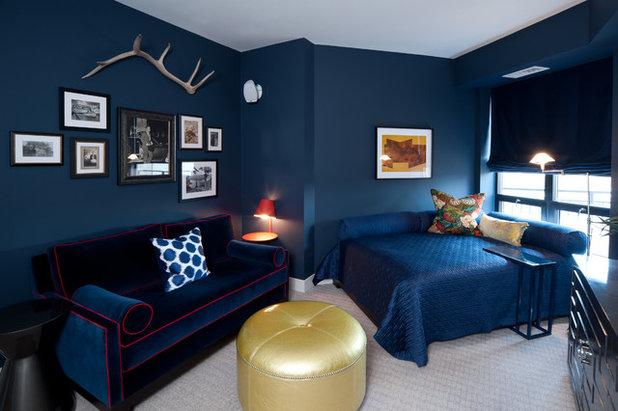 contemporain chambre by kbi interior design studios - Chambre Bleu Marine Et Blanche