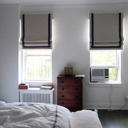 Downtown NYC_ Custom Roman Shades - GBNY Interiors