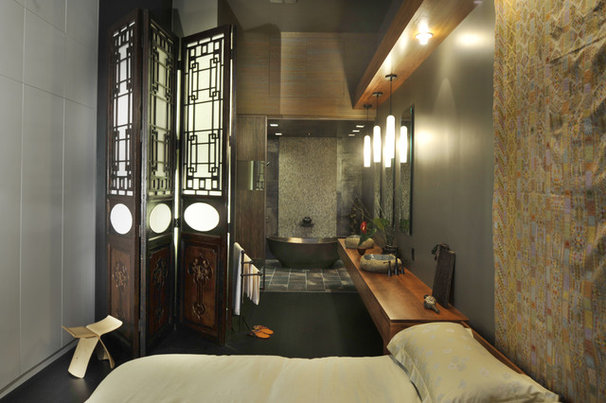 Contemporary Bedroom by Amelie de Gaulle Interiors