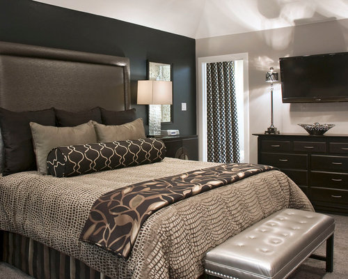 Charcoal bedroom home design ideas pictures remodel and for Charcoal grey bedroom