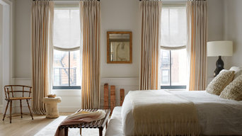 Drapery with Relaxed Roman Shades