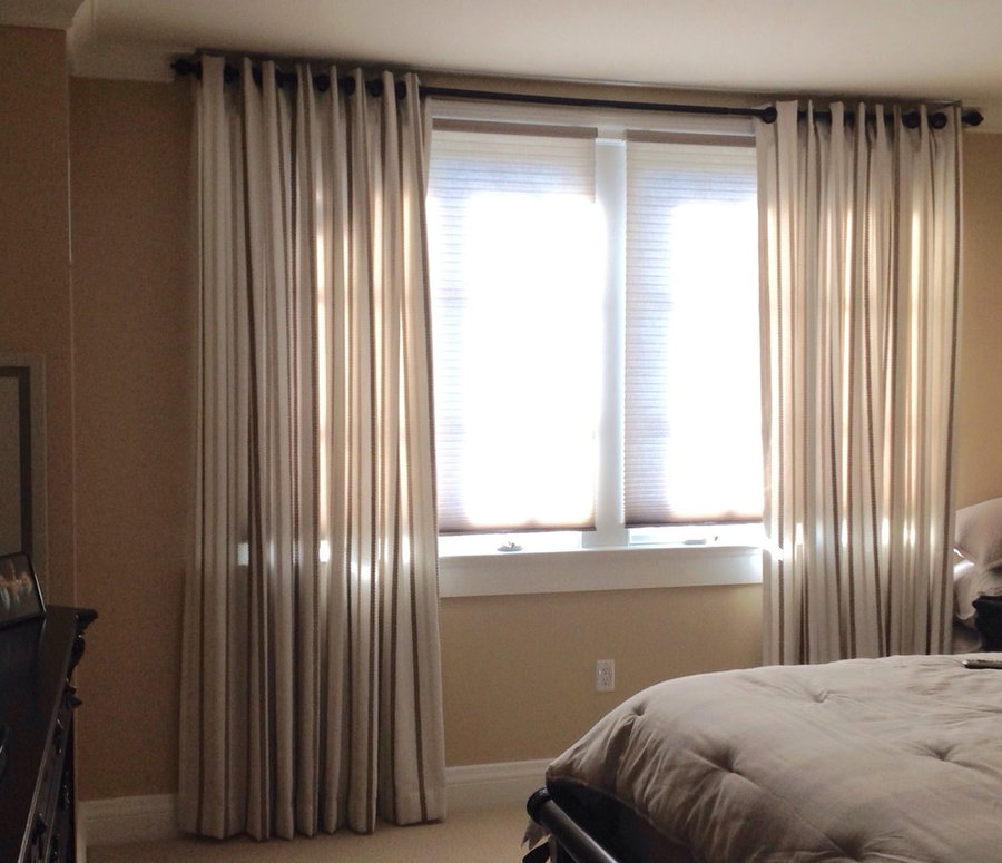 Drapes with Grommets with Luxe Linen Shades