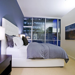 contemporary bedroom by Pilar Calleja - Draw The Line Design