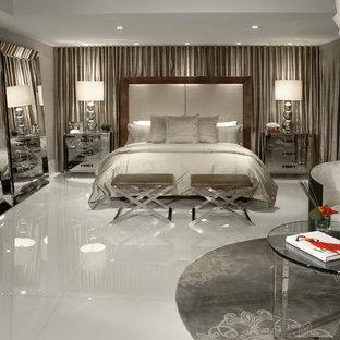 Example of a trendy bedroom design in Miami