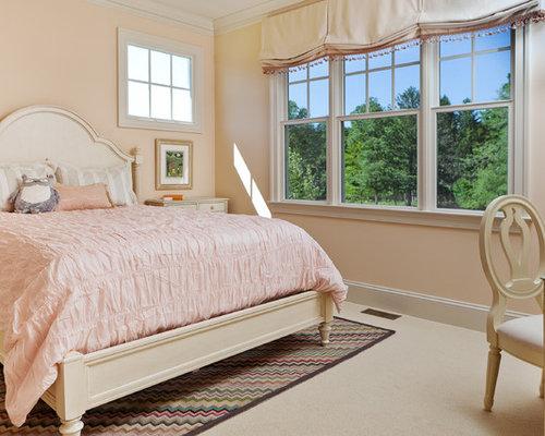 Peach bedroom houzz for Peach bedroom