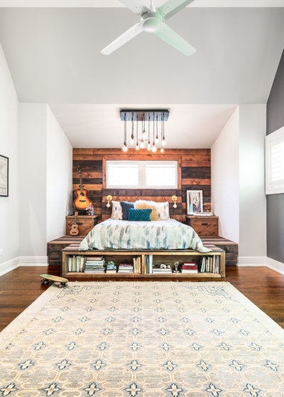 Transitional Bedroom by Amy Storm & Company
