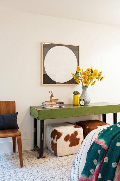 Industrial Bedroom by Regan Baker Design
