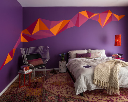 how to decorate a purple bedroom. cheap modern style bedroom